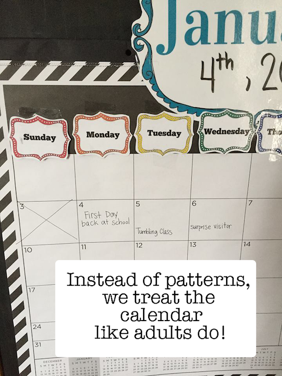 calendar time ideas