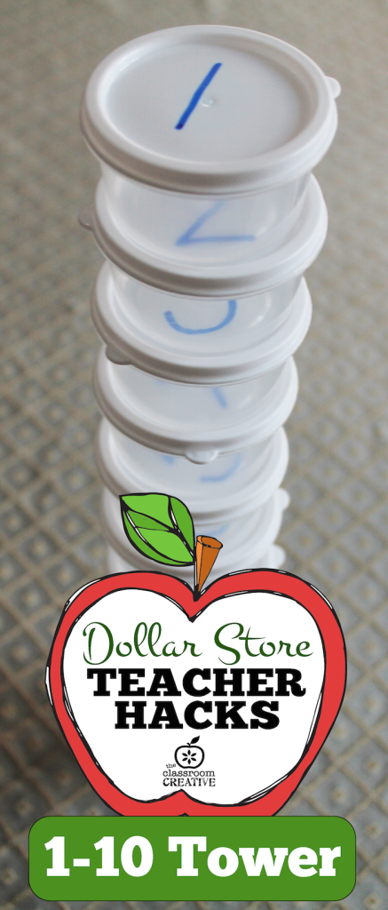 1-10 counting center tower dollar store teacher hacks