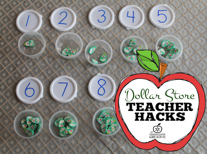 counting cups dollar store teacher hack