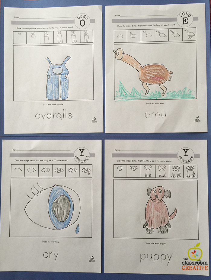 Make Vowel Work Meaningful with Directed Drawings