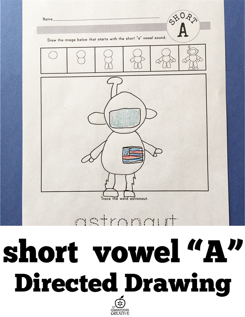 short a vowel directed drawing activity