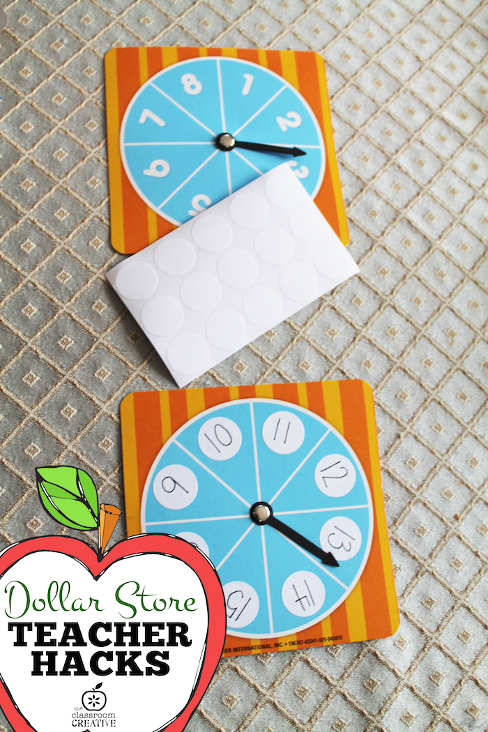 Dollar Store Teacher Hack:  DIY Game Spinners