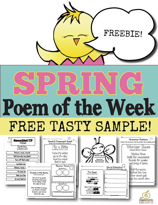 free spring poem of the week sampler theclassroomcreative