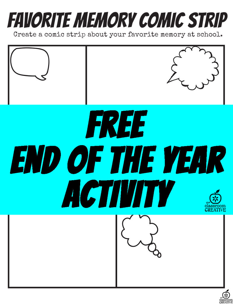End of the Year Superhero Favorite Memory Comic Strip