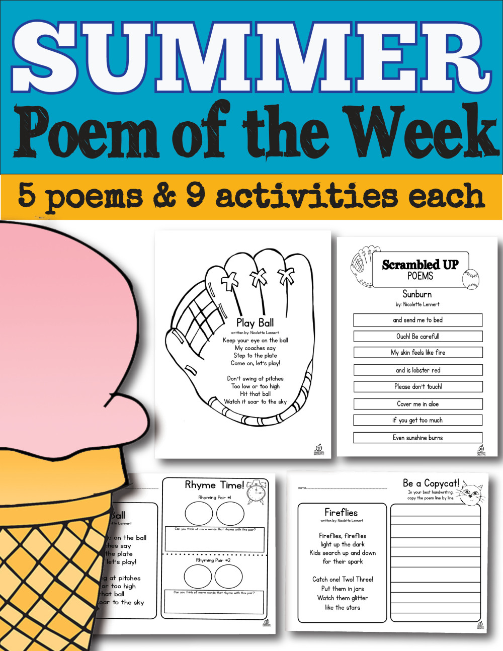 Classroom Review Ideas ~ Poem of the week for whole school year
