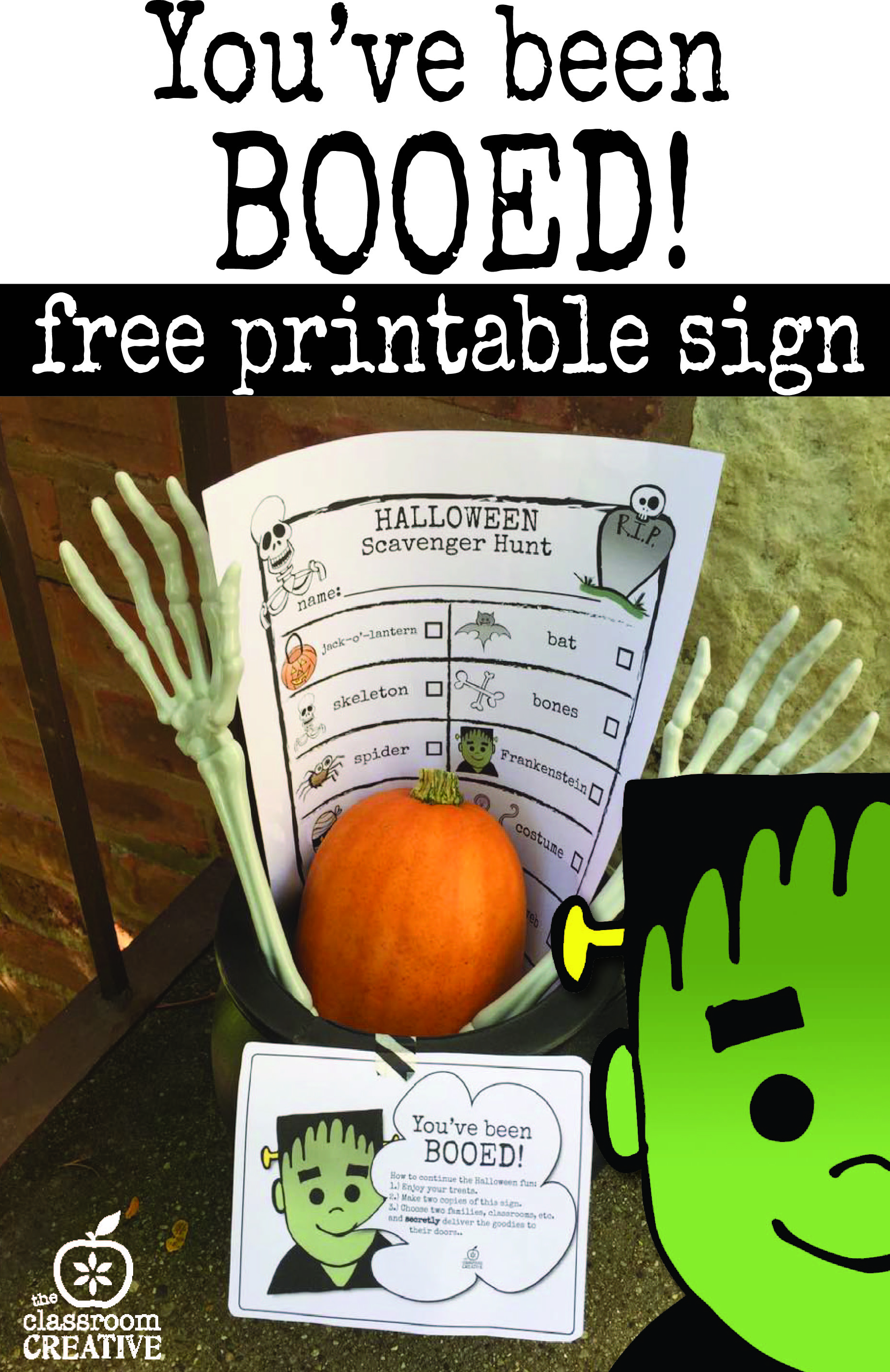 You've Been BOOED free printable: Halloween Fun Idea