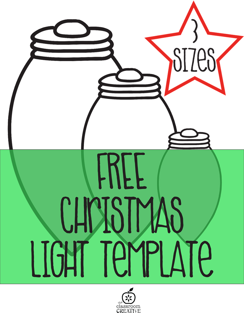 free printable christmas light template
