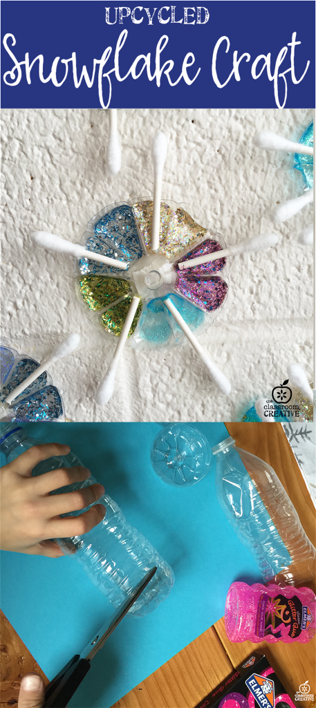 upcycled-water bottle snowflake-craft-for-kids-1