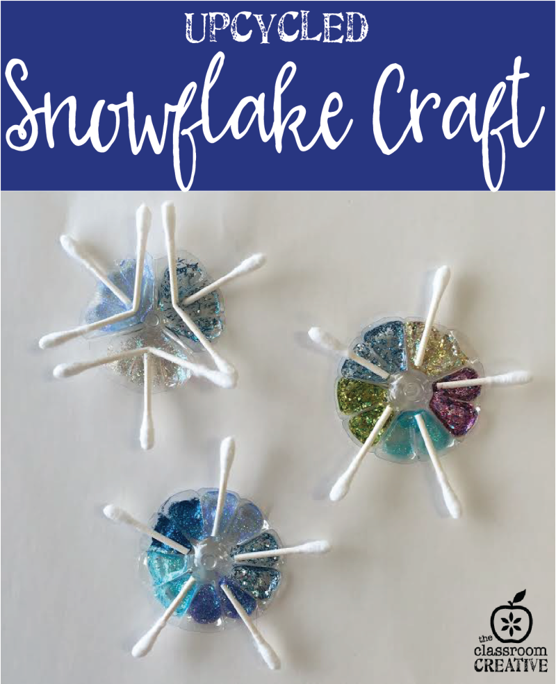 Upcycled Water Bottle Snowflake Craft for Kids