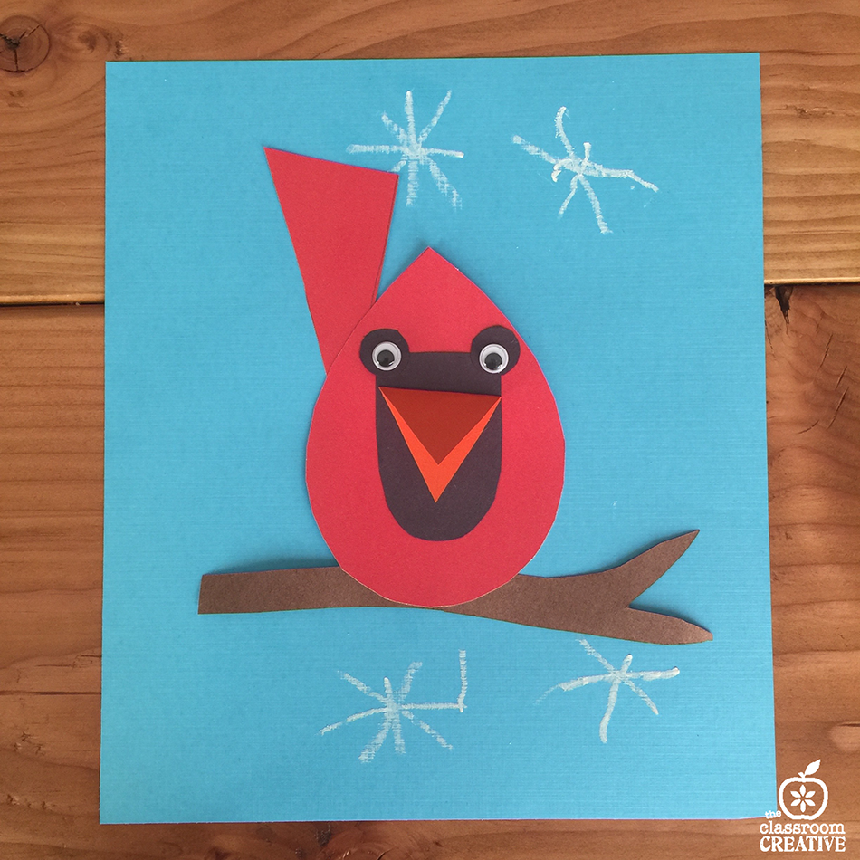 free cardinal craft activity and template