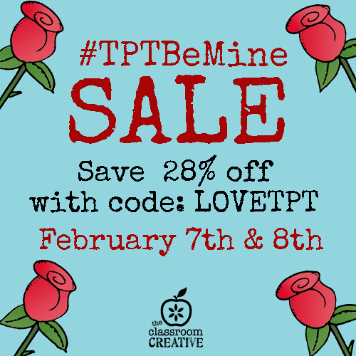 TpT Be mine sale ad