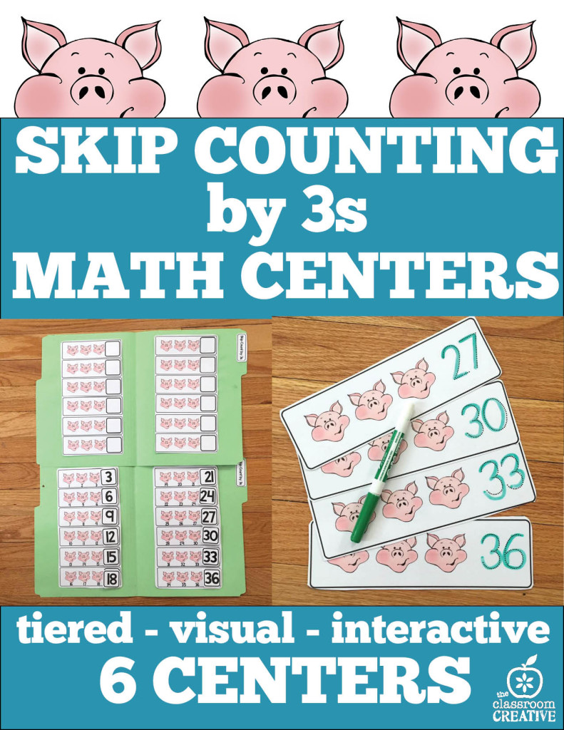 skip counting by 3s math centers pack the classroom creative