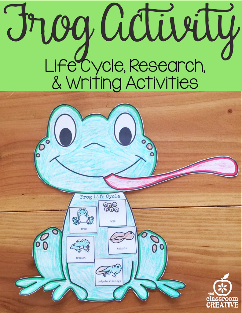 frog activity life cycle literacy drawing ela