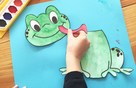 Frog Craft Template for Kindergarten, 1st Grade, & 2nd Grade