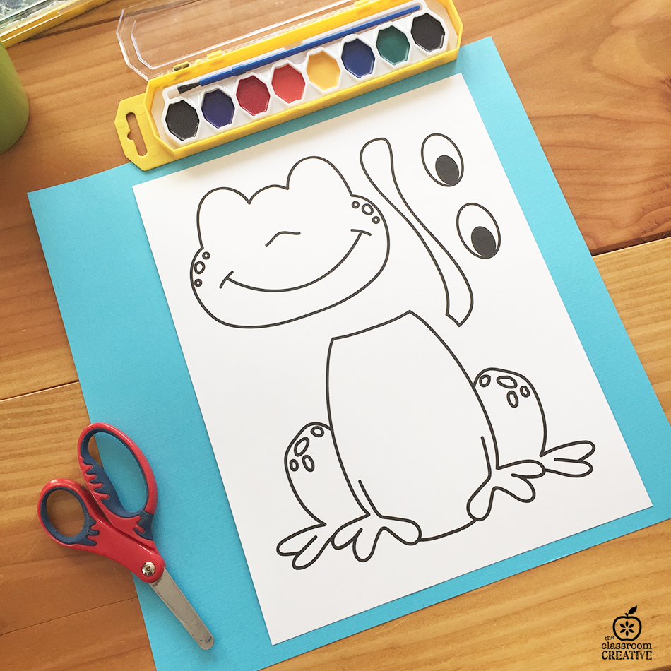 picture regarding Frog Template Printable named Frog Craft Template for Kindergarten, 1st Quality, 2nd Quality
